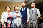 Baby Eabha Carol with her parents Karina & Joe O'Brien, Ballylongford and god parents Margaret O'Driscoll & James O'Brien who was christened in Ballylongford church by Fr. Hussey on Saturday last and afterwards Behan's Hordeshoe Bar & Restaurant, Listowel.