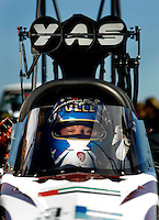 Sept. 5, 2010; Clermont, IN, USA; NHRA top fuel dragster driver Rod Fuller during qualifying for the U.S. Nationals at O'Reilly Raceway Park at Indianapolis. Mandatory Credit: Mark J. Rebilas-