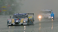 The #10 Chevrolet Dallara of Ricky Taylor and Max Agelelli races through the rain to win the Sahlen's Six Houra at Watkins Glen, June 4, 2011.  (Photo by Brian Cleary/www.bcpix.com)