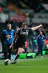 Heineken Cup - Ospreys v Treviso - Liberty Stadium - Swansea - UK - 12th October 2012 :                .Ospreys Dan Biggar kicks a conversion.