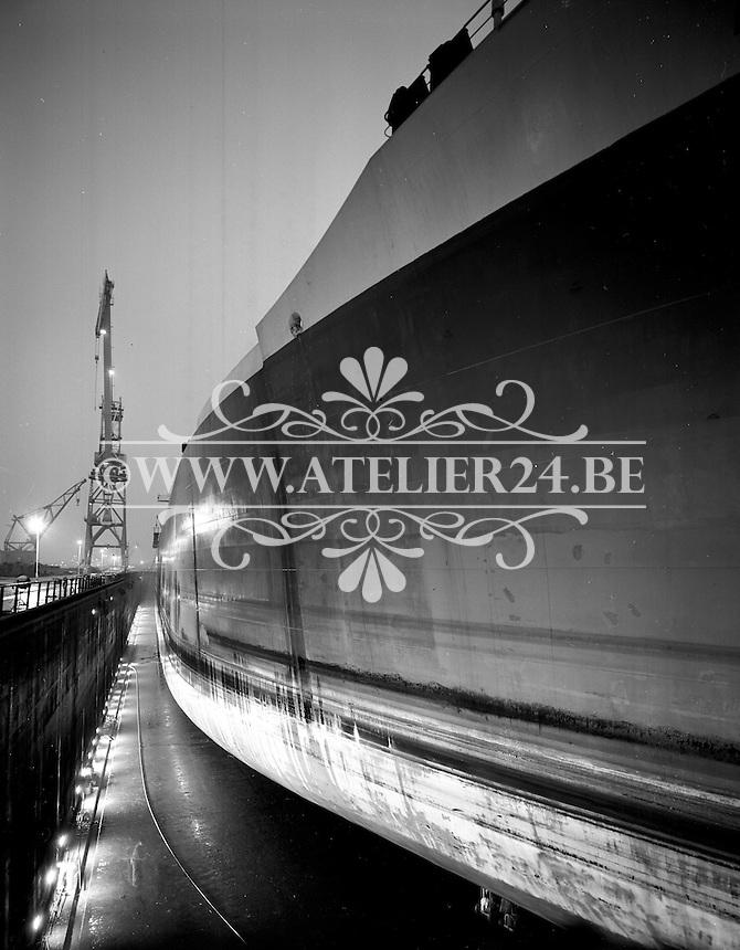 December 1965.  Fina tanker Reine Fabiola.