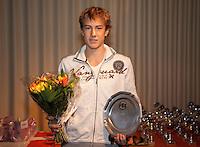6-12-09, Almere, Tennis, REAAL winterjeugdcircuit, Masters,  Prijsuitrijking, Max de Vroome