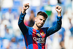 Gerard Pique of FC Barcelona reacts during their La Liga match between Deportivo Leganes and FC Barcelona at the Butarque Municipal Stadium on 17 September 2016 in Madrid, Spain. Photo by Diego Gonzalez Souto / Power Sport Images