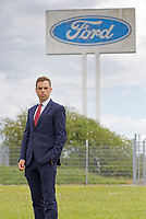 Pictured: Assembly Member Ken Skates outside the Ford engine plant in Bridgend, Wales, UK. Thursday 06 June 2019<br /> Re: An announcement on the proposed closure of Ford's Bridgend plant will be made today (Thursday).<br /> Ford Europe and bosses from the United States will meet union leaders at its Essex headquarters.<br /> The plant employs 1,700 workers from across south Wales.