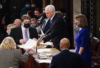 JAN 06 Congress Meets to Certify Electoral College Vote at the U.S. Capitol