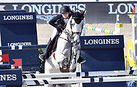 MIAMI BEACH, FL - APRIL 15: Lucy Davis at the Longines Global Champions Tour stop in Miami Beach. The winner was Jerome Guery (BE), second place was Alberto Zorzi (IT) and third place was Nicola Philippaerts (BE). Also riding but did not make the finals was Georgina Bloomberg, Jessica Rae Springsteen and Jennifer Gates on April 15, 2017 in Miami Beach, Florida.<br /> <br /> People:  Lucy Davis