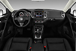 Stock photo of straight dashboard view of 2017 Volkswagen Tiguan S-4Motion 5 Door SUV Dashboard