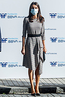 MADRID, SPAIN- September 28:  **NO SPAIN** Queen Letizia of Spain attends 'Tireless women: challenges and achievements to reinvent themselves in times of crisis' of the BBVA Microfinance Foundation at BBVA Foundation on September 28, 2020 in Madrid, Spain. <br /> CAP/MPI/RJO<br /> ©RJO/MPI/Capital Pictures