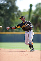 Pittsburgh Pirates Raul Siri (44) during an instructional league intrasquad black and gold game on September 23, 2015 at Pirate City in Bradenton, Florida.  (Mike Janes/Four Seam Images)