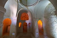 Altar of the Nameless Chapel in Goreme Open Air museum, Cappadocia, Turkey