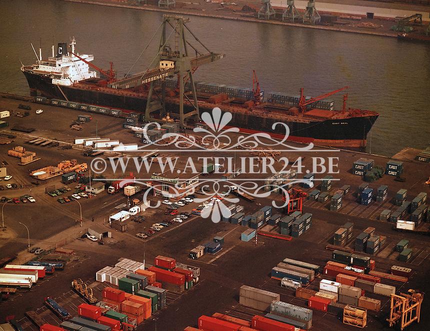 Juni 1978. Schip Cast Seal bij de Hessenatie in de Haven van Antwerpen.