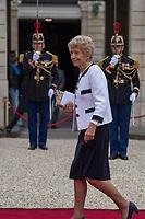 Paris (75)- Palais de l'Elysee- Ceremonie d installation de M. Emmanuel MACRON, PrÈsident de la RÈpublique, le dimanche 14 mai , HÈlËne CarrËre, dite HÈlËne CarrËre d'Encausse