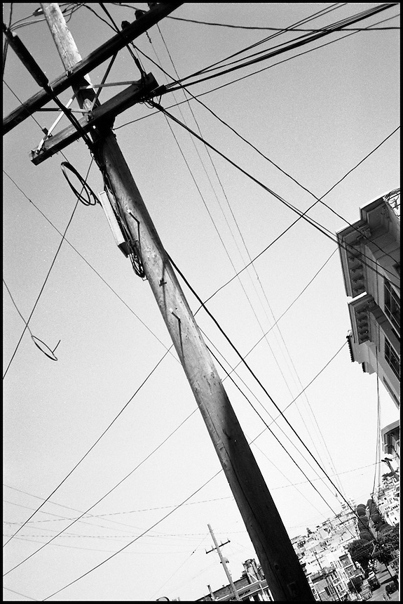 """The pole and wire<br /> From """"Walking Downtown"""" series. San Francisco, CA, 2007"""