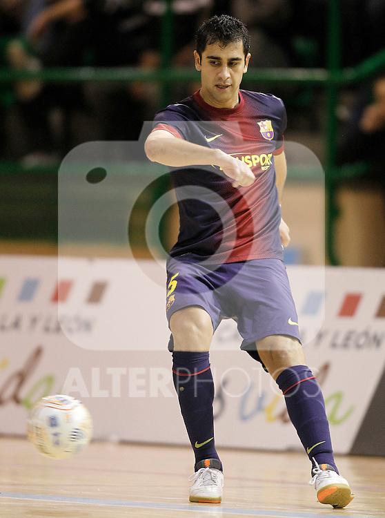 FC Barcelona Alusport's Gabriel Da Silva during Spanish National Futsal League match.November 24,2012. (ALTERPHOTOS/Acero)