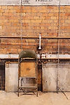 Industrial scene, vintage, Steam geneator,steam turbine, Seattle, WA, Georgetown Steam Plant, a National Historic Landmark in Seattle, WA USA