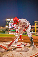 22 May 2015: Washington Nationals infielder Yunel Escobar on deck during a game against the Philadelphia Phillies at Nationals Park in Washington, DC. The Nationals defeated the Phillies 2-1 in the first game of their 3-game weekend series. Mandatory Credit: Ed Wolfstein Photo *** RAW (NEF) Image File Available ***
