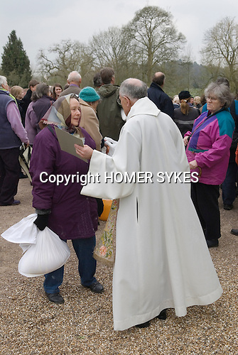 Tichborne Dole. Tichborne, near Arlesford, Hampshire. UK. Annually on Lady Day, March 25th 2007.