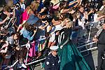 70eme Festival International du Film de Cannes. Montee de la ceremonie de cloture, vues du toit du Palais . 70th International Cannes Film Festival. Vew from rof top of closing red carpet<br /> <br /> <br /> <br /> <br />  Golan, Hofit