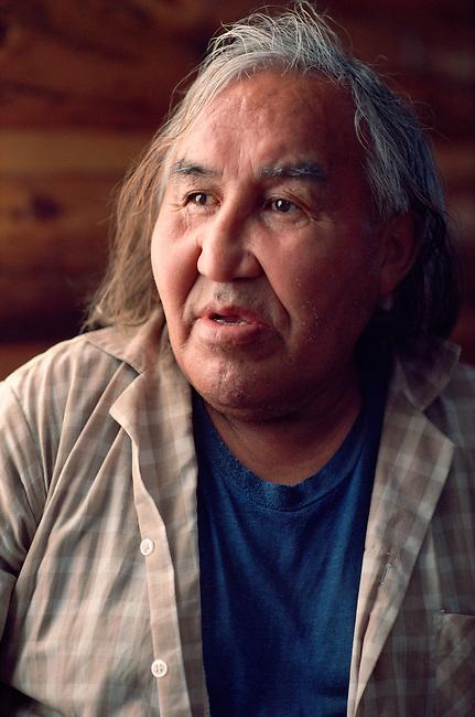 Joe Punch, a Slavey (Dene) Indian man from Trout Lake. NWT. Canada.