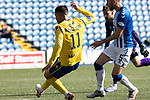 Kilmarnock v St Johnstone……15.08.20   Rugby Park  SPFL<br />Michael O'Halloran scores his goal<br />Picture by Graeme Hart.<br />Copyright Perthshire Picture Agency<br />Tel: 01738 623350  Mobile: 07990 594431