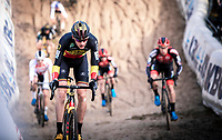 Belgian National Champion and later race winner Toon Aerts (BEL/Telenet Baloise Lions) in the infamous 'Pit'<br /> <br /> CX Superprestige Zonhoven (BEL) 2019<br /> Elite & U23 mens race