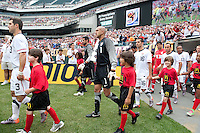 USA's Tim Howard walks onto the field during an international friendly tune up match against Turkey for the 2010 World Cup, at Lincoln Financial Field, in Philadelphia, PA, Saturday, May 29, 2010. USA defeated Turkey 2-1.