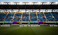 SAN JOSE, CA - AUGUST 17: PayPal Park before a game between Minnesota United FC and San Jose Earthquakes at PayPal Park on August 17, 2021 in San Jose, California.