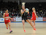 New Zealand's Shannon Francois  <br /> <br /> Swansea University International Netball Test Series: Wales v New Zealand<br /> Ice Arena Wales<br /> 08.02.17<br /> ©Ian Cook - Sportingwales