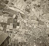 historical aerial photograph Corona, California, 1948