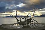 "Viking ship sculpture ""Solfar""  Reykjavik, Iceland"