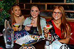 Enjoying the evening in Molly J's celebrating Emma Hickeys hen party on Friday, l to r: Lauren O'Connor, Caoimhe Shanahan and Clodagh O'Connor (All Tralee).
