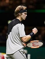 ABNAMRO World Tennis Tournament, 15 Februari, 2018, Rotterdam, The Netherlands, Ahoy, Tennis, Andrey Rublev (RUS)<br /> <br /> Photo: www.tennisimages.com
