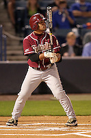 """Florida State Seminoles Devon Travis #8 during a game vs. the Florida Gators in the """"Florida Four"""" at George M. Steinbrenner Field in Tampa, Florida;  March 1, 2011.  Florida State defeated Florida 5-3.  Photo By Mike Janes/Four Seam Images"""