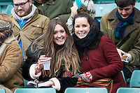 Fans enjoying the 131st Varsity Match between Oxford University and Cambridge University at Twickenham on Thursday 06 December 2012 (Photo by Rob Munro)