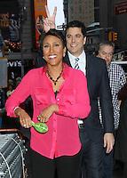 May 04, 2012 Robin Roberts, Josh Elliot host of  Good  Morning America in New York City.Credit:RWMediapunchinc.com