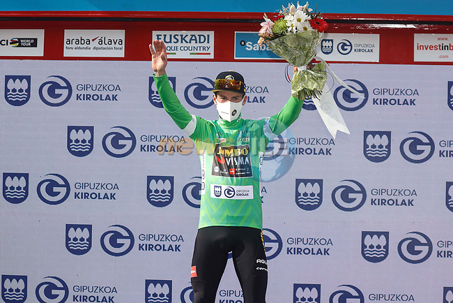 Primoz Roglic (SLO) Team Jumbo-Visma wins the overall and points classifications at the end of Stage 6 of the Itzulia Basque Country 2021, running 111.9km from Ondarroa to Arrate, Spain. 10th April 2021.  <br /> Picture: Luis Angel Gomez/Photogomezsport | Cyclefile<br /> <br /> All photos usage must carry mandatory copyright credit (© Cyclefile | Luis Angel Gomez/Photogomezsport)