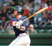 Outfielder Bryce Brentz (25) of the Greenville Drive, Class A affiliate of the Boston Red Sox, in a game against the Asheville Tourists on May 1, 2011, at Fluor Field at the West End in Greenville, S.C. Brentz was the 36th overall pick in the 2010 First-Year Player Draft. Photo by Tom Priddy / Four Seam Images