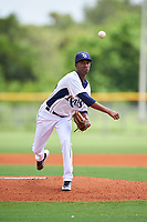 GCL Rays starting pitcher Wanderson Linares (26) delivers a pitch during the second game of a doubleheader against the GCL Twins on July 18, 2017 at Charlotte Sports Park in Port Charlotte, Florida.  GCL Twins defeated the GCL Rays 4-2 after the game was postponed in the second inning to the following day at Charlotte Sports Park in Port Charlotte, Florida.  (Mike Janes/Four Seam Images)