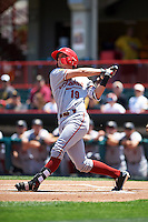 Altoona Curve shortstop Kevin Newman (19) at bat during a game against the Erie SeaWolves on July 10, 2016 at Jerry Uht Park in Erie, Pennsylvania.  Altoona defeated Erie 7-3.  (Mike Janes/Four Seam Images)