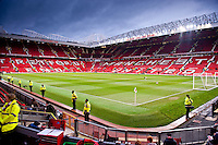 Sunday 05 January 2014<br /> Pictured:general views of Old Trafford<br /> Re: Manchester Utd FC v Swansea City FA cup third round match at Old Trafford, Manchester