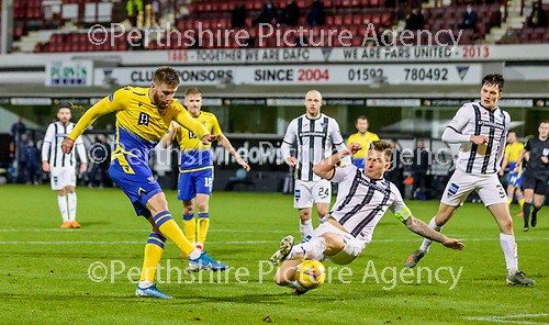 Dunfermline v St Johnstone…15.12.20   East End Park      BetFred Cup<br />Shaun Rooney scores his goal<br />Picture by Graeme Hart.<br />Copyright Perthshire Picture Agency<br />Tel: 01738 623350  Mobile: 07990 594431