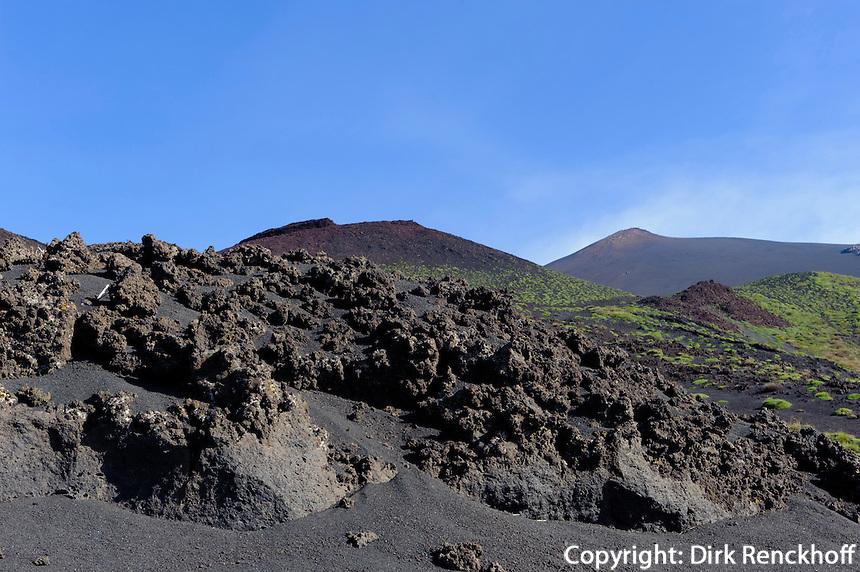 Lava-Feld am Etna, Sizilien, Italien , UNESCO-Weltnaturerbe
