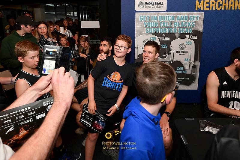 New Zealand Tall Blacks' Tom Abercromble, FIBA World Cup Basketball Qualifier - NZ Tall Blacks v Syria at TSB Bank Arena, Wellington, New Zealand on Sunday 2 2018. <br /> Photo by Masanori Udagawa. <br /> www.photowellington.photoshelter.com