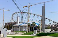 QATAR, Doha, construction site Khalifa International Stadium for FIFA world cup 2022, built by contractor midmac and sixt contract / KATAR, Doha, Baustelle Khalifa International Stadium fuer die FIFA Fussballweltmeisterschaft 2022, auf den Baustellen arbeiten Gastarbeiter aus verschiedenen Ländern