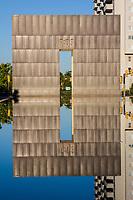Oklahoma City, Oklahoma, USA.  OKC National Memorial Gate, Reflection.