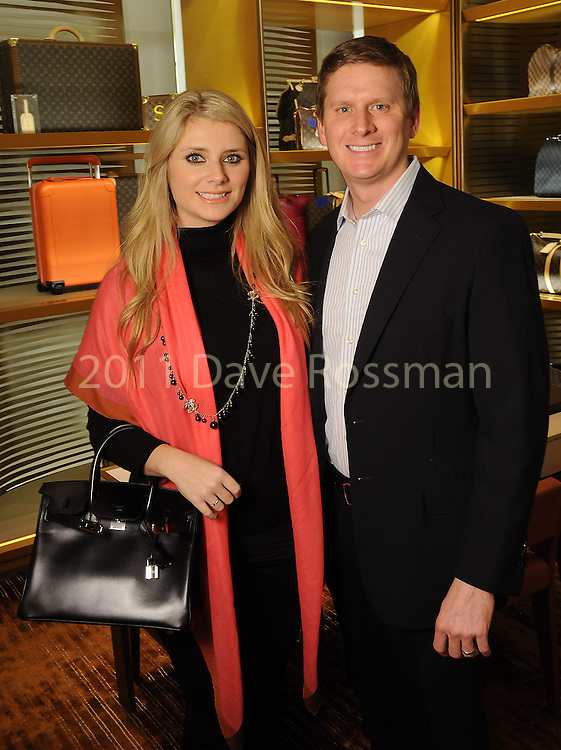 Christine Falgout and Bill Gutknecht at the UNICEF event at the Louis Vuitton store in the Galleria Thursday Jan. 12, 2017.(Dave Rossman photo)