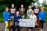 Members of the Tralee Chain Gang presents a cheque for € 5000:00 to Palliative Care on Thursday. Seated l to r: John Murray (Tralee Chain Gang Chairman) and Maura Sullivan (Kerry Hospice). Standing l to r: Bridie O'Connor, Dave Elton, Pat Keoghan, Avril Hewitt, Seamus Cotter and Ita Behan.