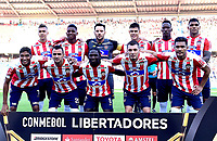 BARRANQUIILLA - COLOMBIA, 15-02-2018: Atlético Junior de Colombia y Guaraní de Paraguay en partido de ida por la tercera fase, llave 4, de la Copa CONMEBOL Libertadores 2018  jugado en el estadio Metropolitano Roberto Meléndez de la ciudad de Barranquilla. / Atletico Junior of Colombia and Guarani of Paraguay in first leg match for the third phase, key 4, of the Copa CONMEBOL Libertadores 2018 played at Metropolitano Roberto Melendez stadium in Barranquilla city.  Photo: VizzorImage/ Alfonso Cervantes / Cont