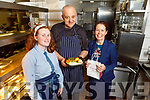 Caroline Donnelly, Eileen Egan (Manager) and Rafeal Hernandez (Chef) in the Grand Hotel preparing take away meals on Saturday.