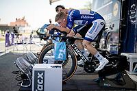 Remco Evenepoel (BEL/Deceuninck-QuickStep) warming up for the iTT<br /> <br /> 91st Baloise Belgium Tour 2021 (BEL/2.Pro)<br /> Stage 2 (ITT) from Knokke-Heist to Knokke-Heist (11.2km)<br /> <br /> ©kramon